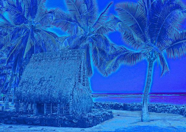 Big Island Digital Art - Place Of Refuge In Blue by Kerri Ligatich