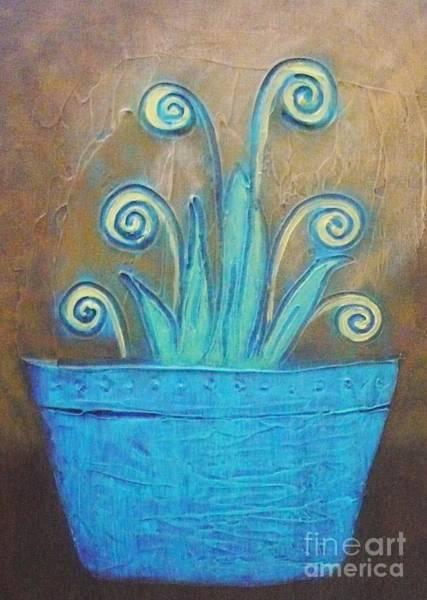 Painting - Plant Pot by Monika Shepherdson