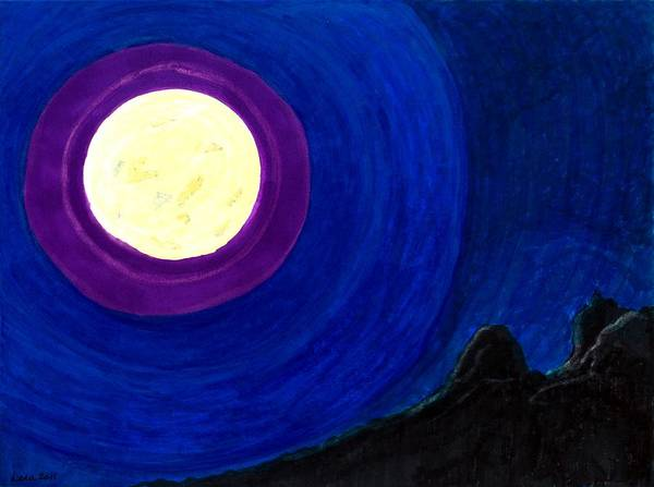 Painting - Planter's Moon by Lesa Weller
