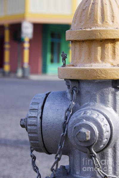 Water Hydrant Photograph - Plastic Soldier On A Fire Hydrant by Jeremy Woodhouse