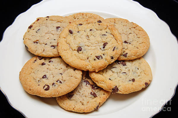 Photograph - Plate Of Chocolate Chip Cookies by Andee Design