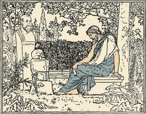 Dialogue Photograph - Plato, Ancient Greek Philosopher by Science Source