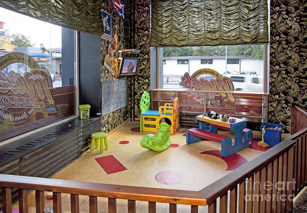 Barbeque Photograph - Play Pen At A Diner by Jaak Nilson
