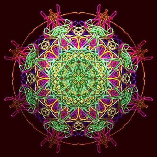 Spiritual Wall Art - Photograph - Playing Mandala by Vicki Field