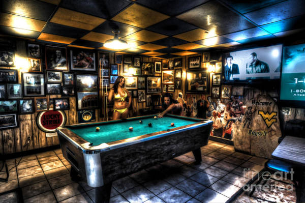 Photograph - Playing Pool In Bar by Dan Friend