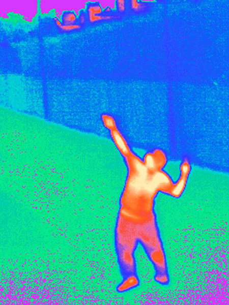 Wall Art - Photograph - Playing Tennis, Thermogram by Tony Mcconnell