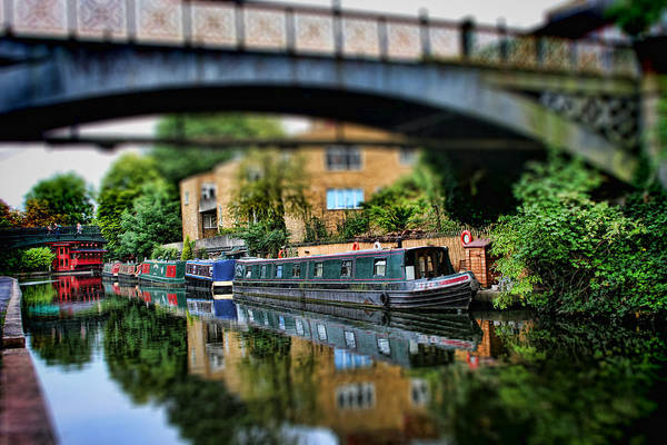 Houseboat Photograph - Playing With Canal Boats by Heather Applegate