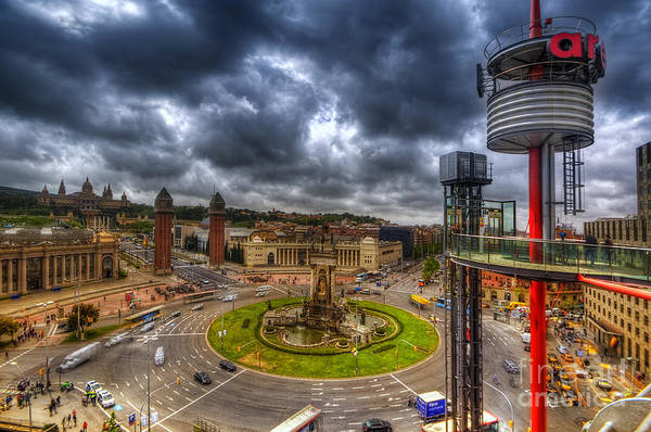 Photograph - Plaza De Espanya - Barcelona by Yhun Suarez