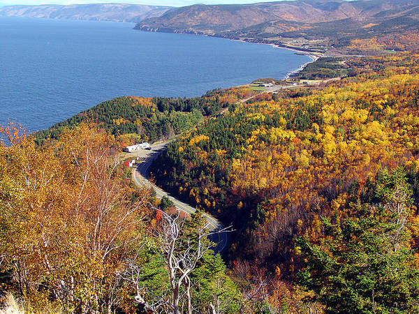 Cabot Trail Photograph - Pleasant Bay From Mckenzie Mountain by George Cousins