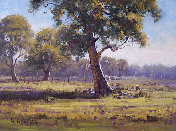 Old Tree Painting - Plein Air Painting by Graham Gercken