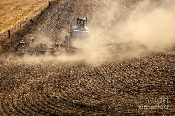 Plowing Photograph - Plowing The Ground by Mike  Dawson