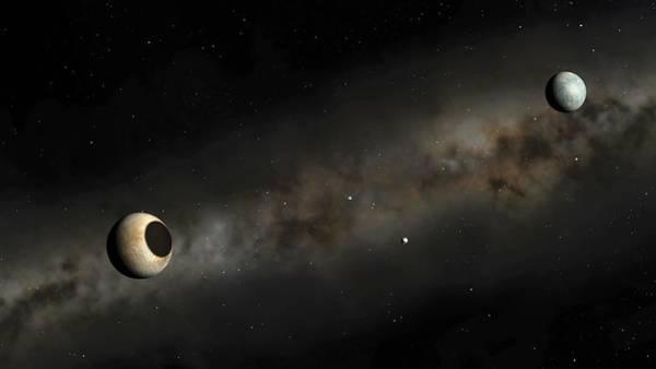 Planets And Moons Digital Art - Pluto And Charon Artwork by Mark Garlick