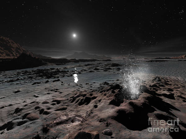 Color Burst Digital Art - Pluto May Have Springs Of Liquid Oxygen by Ron Miller