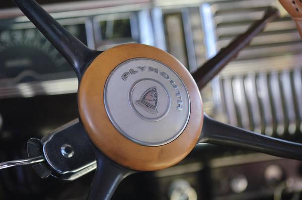 Photograph - Plymouth Steering Wheel by Jill Reger