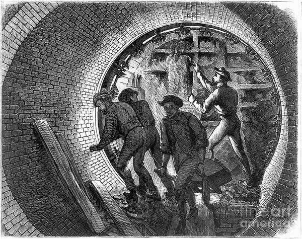 Photograph - Pneumatic Transit, 1870 by Granger