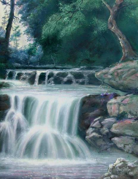 Painting - Pocono Mountains Waterfall by Gary Partin