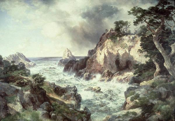 Moran Painting - Point Lobos At Monterey In California by Thomas Moran