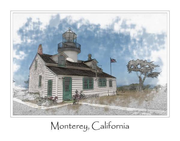 Digital Art - Point Pinos Lighthouse Monterey  by Brandon Bourdages