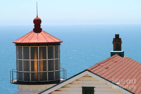Pt. Reyes Photograph - Point Reyes Lighthouse In California 7d16013 by Wingsdomain Art and Photography