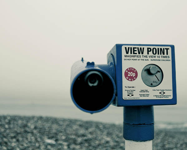 Text Photograph - Pointlessness Is Pointing Telescope by Andy Teo aka Photocillin