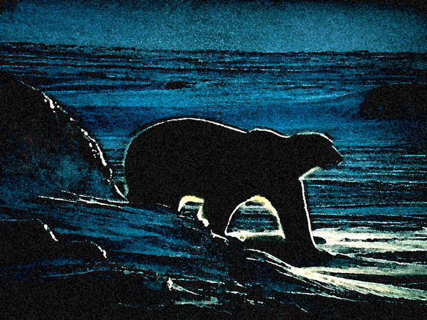 Painting - Polar Bear At Home by Colette V Hera  Guggenheim