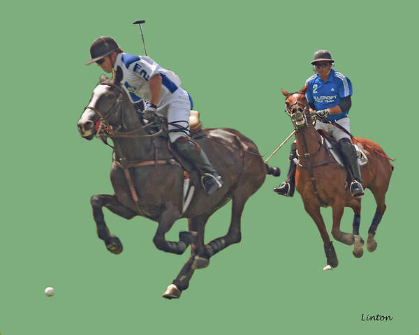 Photograph - Polo 8 by Larry Linton