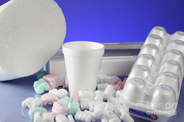 Egg Cup Photograph - Polystyrene Objects by Photo Researchers