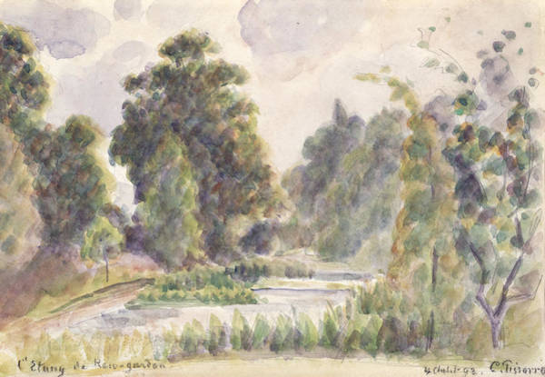 Painting - Pond At Kew Gardens by Camille Pissarro