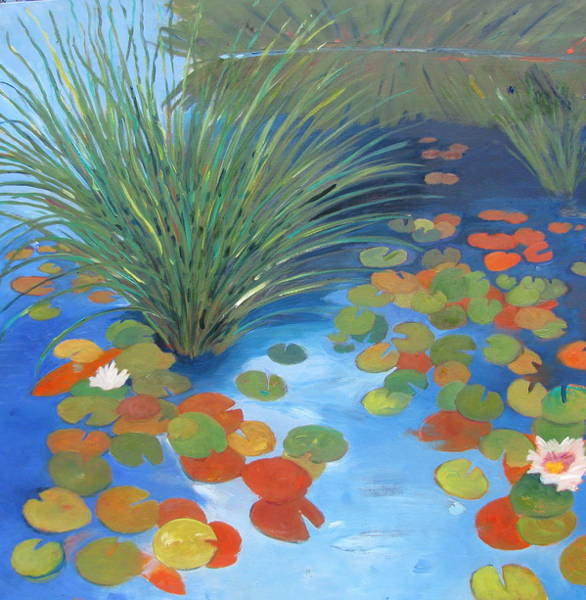 Lilly Pad Painting - Pond Revisited by Gary Coleman