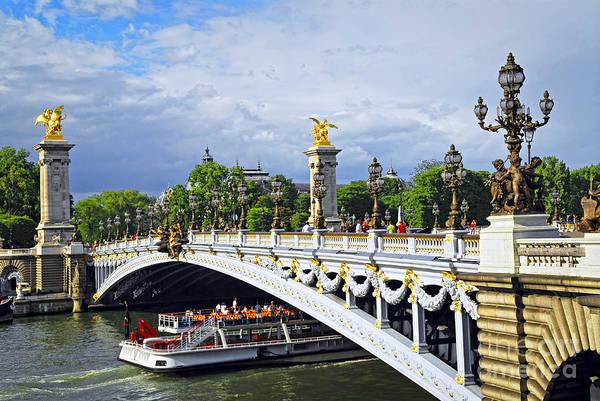 Alexandre Photograph - Pont Alexander IIi by Elena Elisseeva