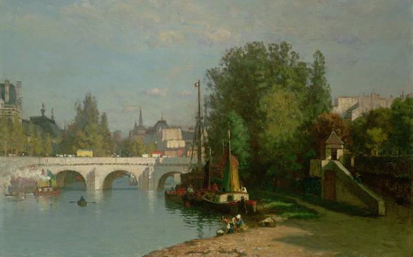 River Seine Painting - Pont Du Carrousel by JJ Enneking