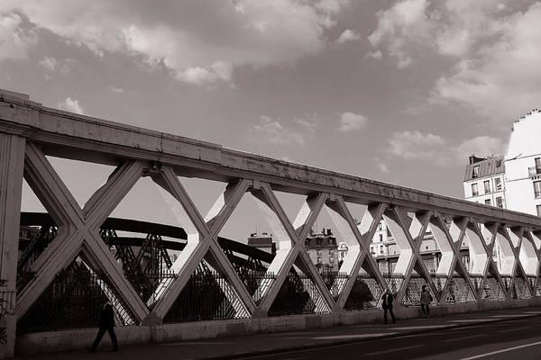 Photograph - Pont Lafayette Paris 2 by Andrew Fare