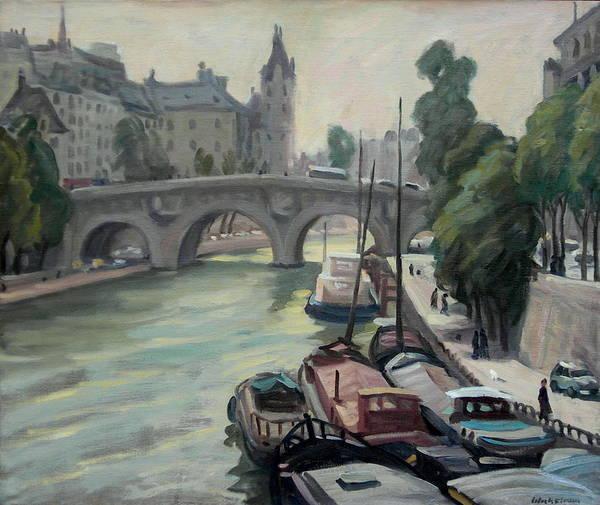 Snow Bank Painting - Pont Neuf A Paris by Thor Wickstrom