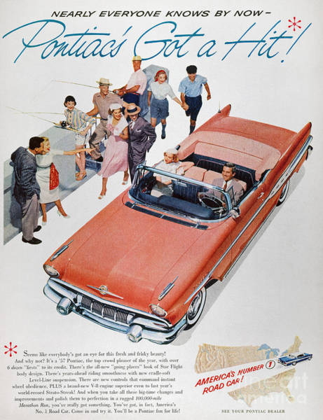 Photograph - Pontiac Advertisement 1957 by Granger