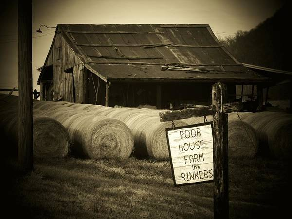 Wall Art - Photograph - Poor House Farm by Michael L Kimble