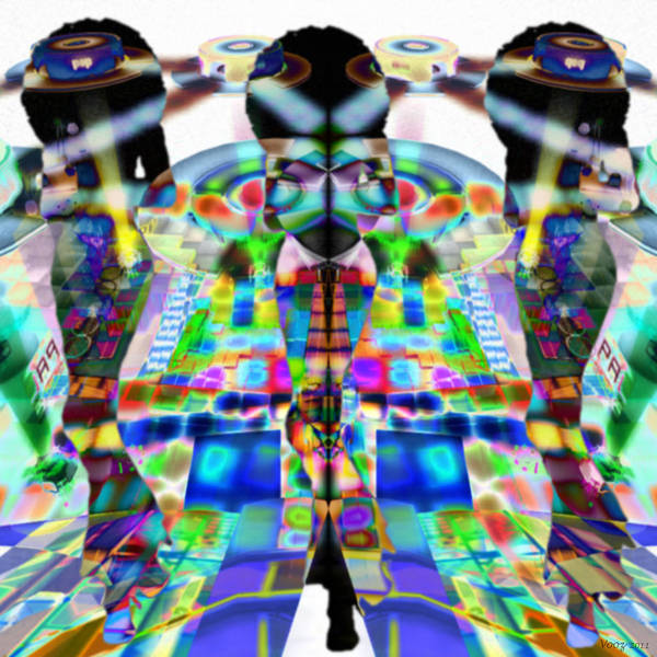 Psychedelia Digital Art - Pop Art Girls by Phil Vooz