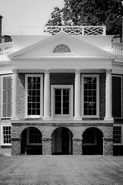 Wall Art - Photograph - Poplar Forest South Portico Bw by Teresa Mucha
