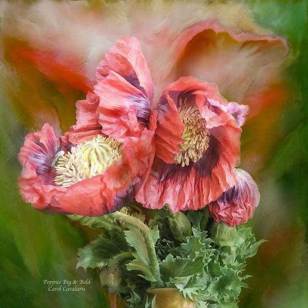 Mixed Media - Poppies Big And Bold by Carol Cavalaris
