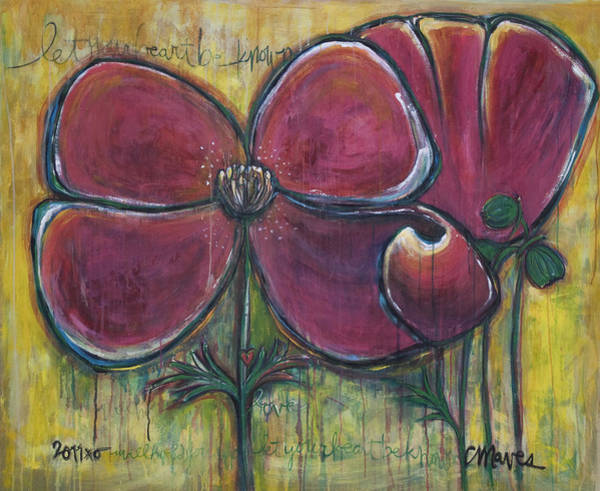 Painting - Poppies For Charo by Laurie Maves ART