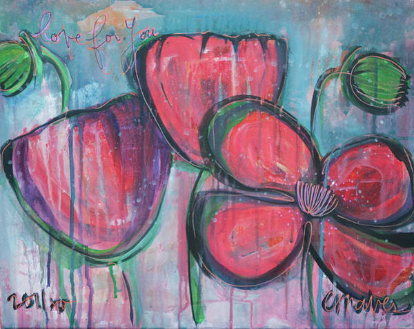 Painting - Poppies For June No. 4 by Laurie Maves ART