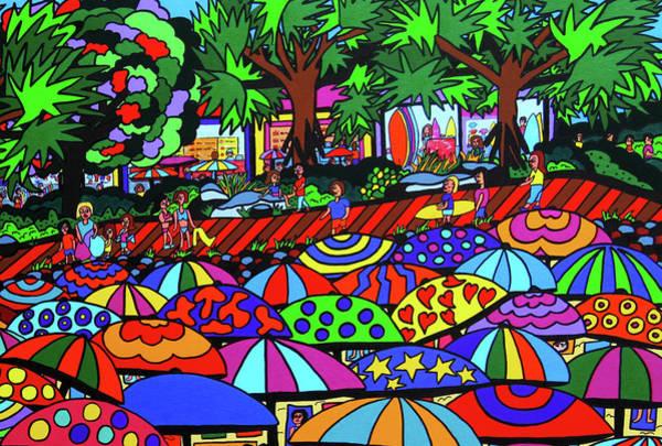 Wall Art - Painting - Popular Beach by Karen Elzinga
