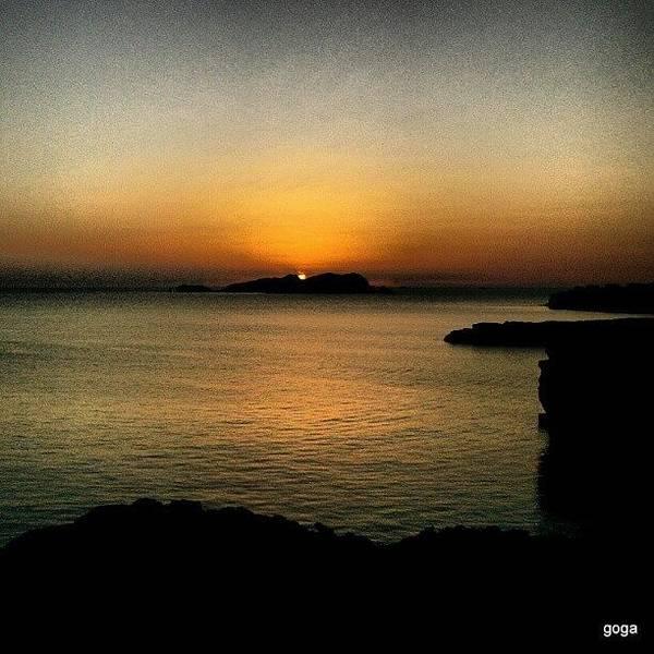 Wall Art - Photograph - Por Detrás Da Ilha #ibiza #sunset by Gogliardo Maragno