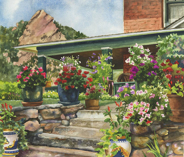 Painting - Porch Garden by Anne Gifford