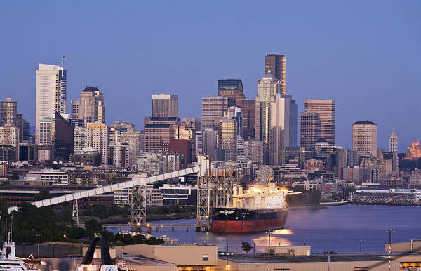 Port City Photograph - Port Of Seattle by Mike Reid