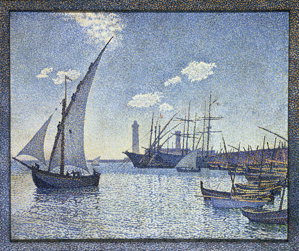 Harbour Painting - Porte De Cette Les Tartanes by Theo van Rysselberghe