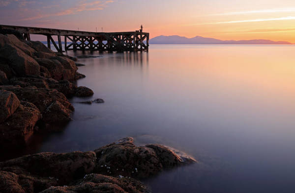 Photograph - Portencross Sunset by Grant Glendinning