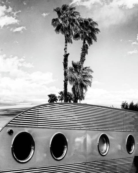 Wall Art - Photograph - Portholes Bw Palm Springs by William Dey