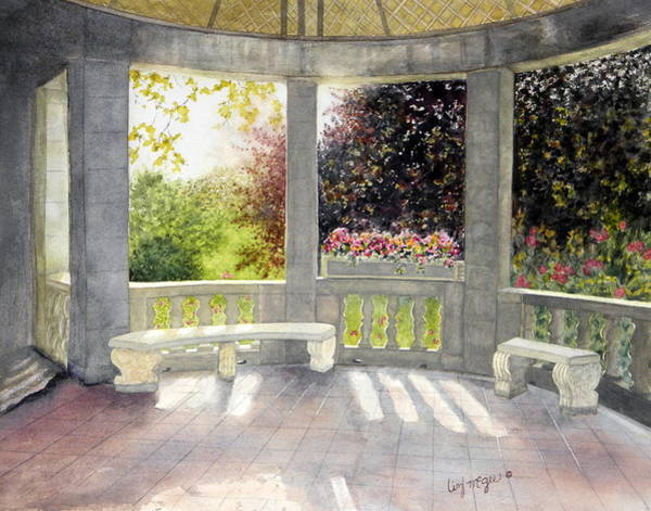 Portico Painting - Portico by Lizbeth McGee