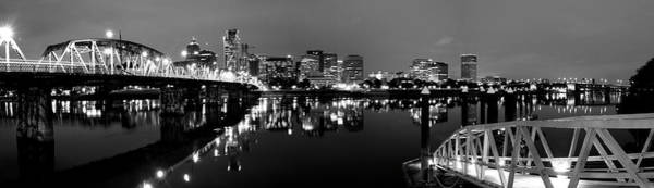 Photograph - Portland In Black And White by Brian Bonham