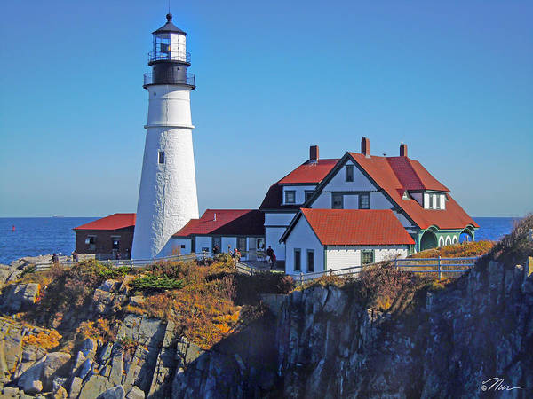 Photograph - Portland Lighthouse by Nancy Griswold